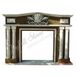 FC-215, Double Column Marble Fireplace Frames