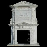 FO-021, Overmantel Marble Fireplace