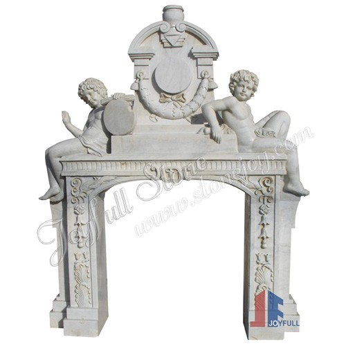 FO-106, Overmantel Carved Fireplace Mantels