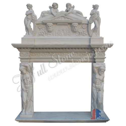 FO-101, Marble Overmantel With Statue