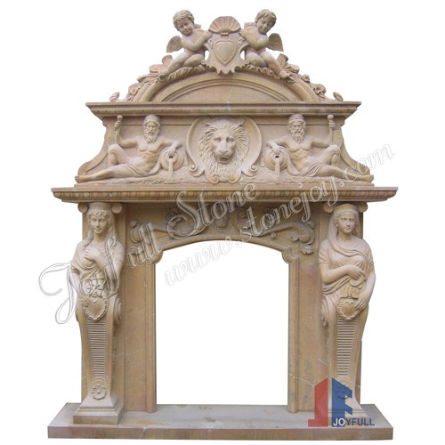 FO-100, Stone Overmantel Fireplace Mantels
