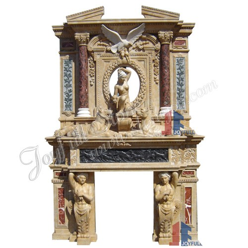 FO-121, Custom Marble Fireplace Overmantels