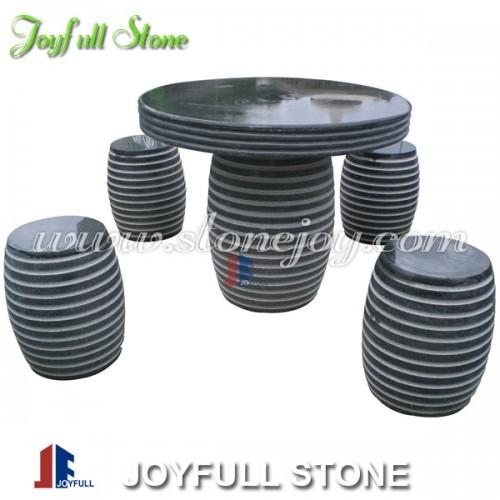 GT-457, Black stone granite table set