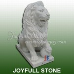 KQ-323-1, White marble lions