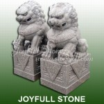 KQ-048, Chinese lion statues