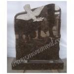 MU-486, Tan Brown Granite headstones