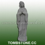 MS-364, Marble Mary Praying Statue