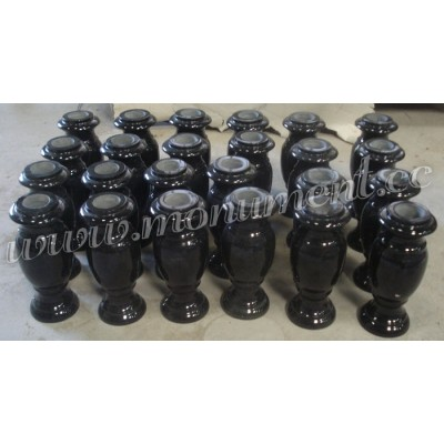 MA-305, Black granite vases