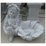 GPW-032, Stone Carving Art Flower pot with Statue