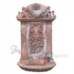 GFQ-048, Carved red marble wall fountain