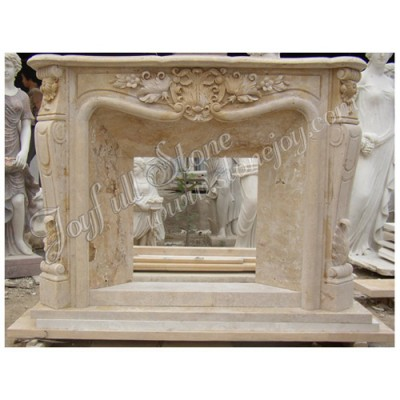 FG-052, American Style Marble Fireplace Mantel Modern