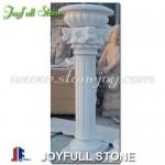 GPP-132, White marble pedestal column and flower pot