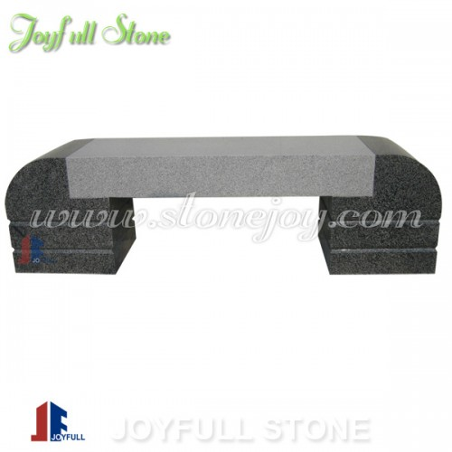 GT-012, grey and black stone bench