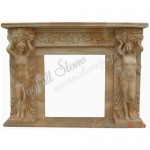 FS-019, Antique Fireplace with statue