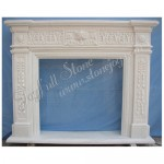 FG-337, Classic White Marble Fireplace Frame