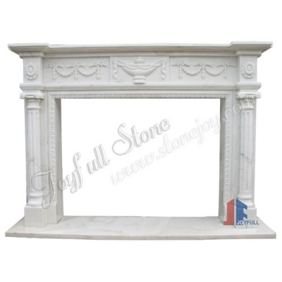 FC-100, Marble Contemporary Fireplace Mantel Design