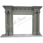 FC-224, Antique Roman Pillar Fireplace