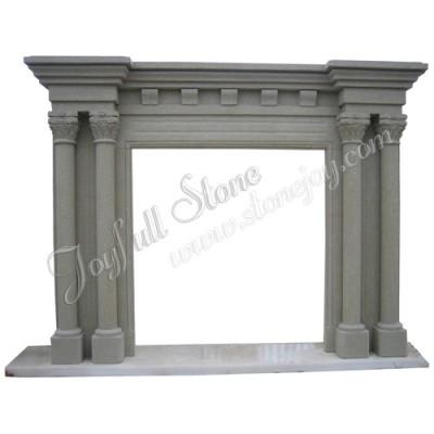 FC-224, Antique Roman Pillar Fireplace