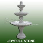 GFT-033-2 3 Tiers White marble Fountain
