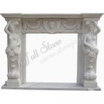 FS-116, Vintage White Mantel With Statue