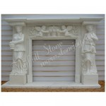 FS-041, Decorating Mantel with Marble Statue