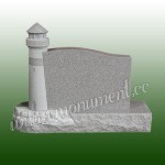 MU-472, Lighthouse style granite headstone
