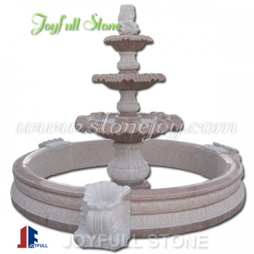 GFP-217, Red granite fountain with pool surround