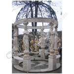 GN-438, Stone Gazebo With Copper Cover