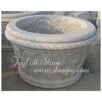 GP-817, Round Stone Garden Seed Planter pot urns