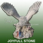 KE-154, Granite Eagle Sculpture