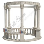 GN-560, Carved Marble Gazebo With Pillar