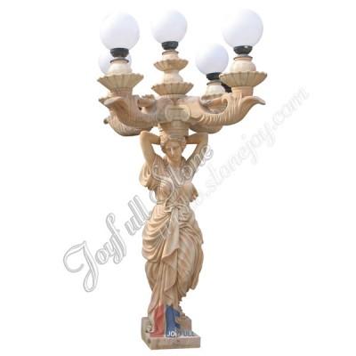 KLB-512, Large Garden Lady Sculpture Lamp