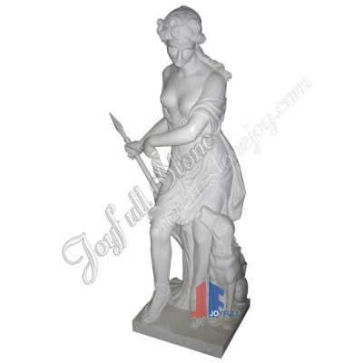 KLE-002, Ancient Cultured Marble Sculptures With Pedestal