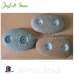River stone Candle holders