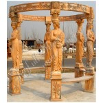 GN-434, Outdoor Gazebo with Marble Statue