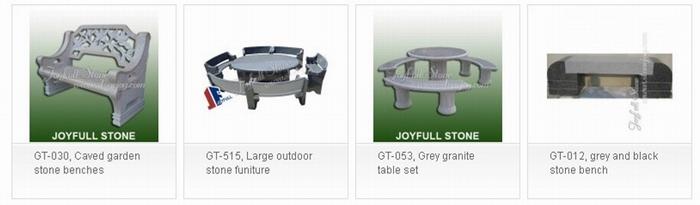 Granite Table Set - Stone picnic table set